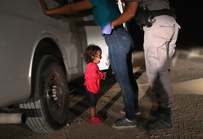 <strong>Crying girl at US border, June 12<br> </strong> <br> <br>