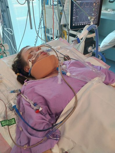Aussie mum shares footage of teen daughter after deodorant-related brain injury