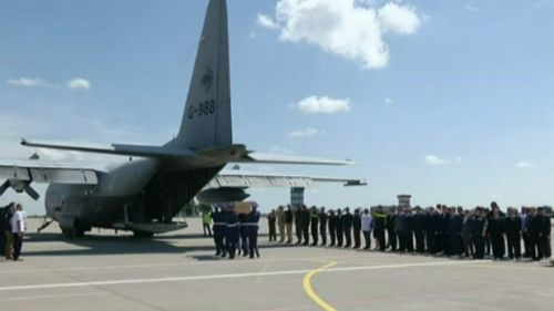 Planes carrying first MH17 victims land in the Netherlands