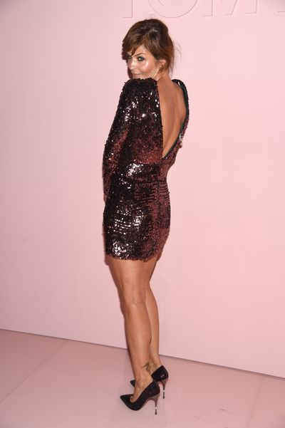 "<p>Danish supermodel was runway ready at the first major show of New York Fashion Week held by <a href=""http://style.nine.com.au/2017/09/07/13/35/9style-tom-ford-kardashian"" target=""_blank"" draggable=""false"">Tom Ford</a>.</p> <p>While Gigi Hadid and Kendall Jenner took to the runway, Christensen 48, took her runway seat with Kim Kardashian, Chaka Khan and Cindy Crawford in the Park Avenue Armory. </p> <p>During the '90s Helena Christensen was at the top of the modelling tree, appearing in Chris Isaak's Wicked Game music video and dating Michael Hutchence but decades later she still commands the lens.</p>"