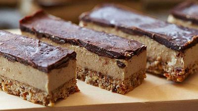 "Recipe: <a href=""http://kitchen.nine.com.au/2016/05/05/11/23/brooke-merediths-raw-vegan-caramel-slice"" target=""_top"">Brooke Meredith's raw vegan caramel slice</a>"