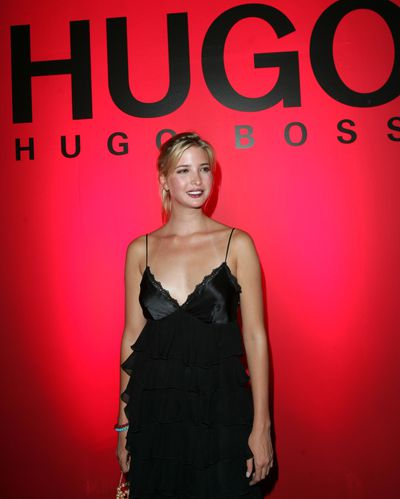 "Ivanka Trump at Hugo Boss spring/summer '05, New York Fashion Week<span class=""Apple-tab-span"" style=""white-space: pre;"">	</span>"
