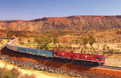 The Ghan makeover for Partjima - A Festival in Light in the Northern Territory