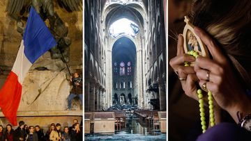 190417 Notre Dame cathedral fire in Paris vigils News France World