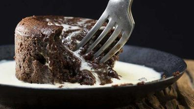 Chocolate and date molten pudding
