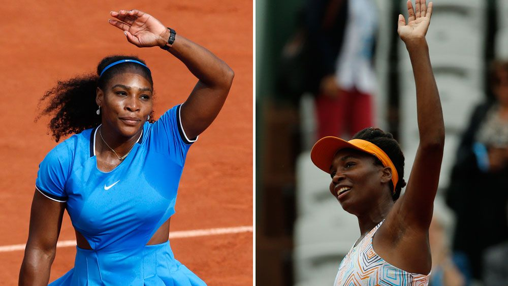 Serena roars into fourth round, Tsonga out