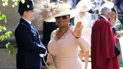 Oprah Winfrey was at the Windsor Castle wedding of Meghan and Prince Harry.