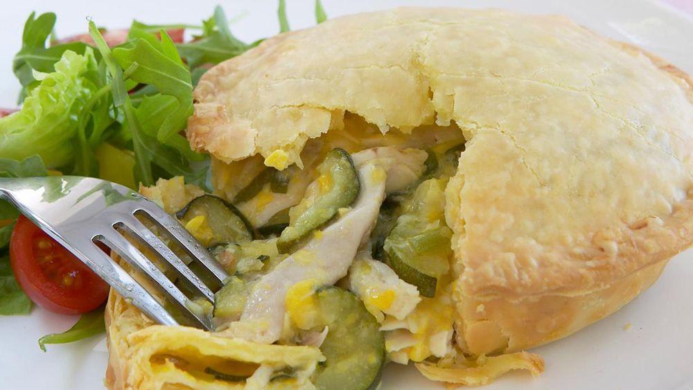 corn chicken zucchini pie