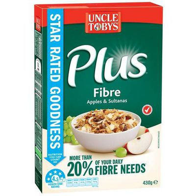 <strong>Plus with fibre (18 grams of fibre per 100 grams)</strong>