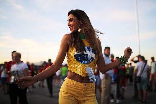 FIFA is cracking down on sexism at the World Cup, calling broadcasters out for focusing too much on 'hot female fans' Picture: Getty