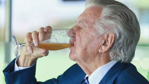 Hawke admitted to alcoholism in the 1970s, but beer remained part of his iconography.