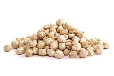 Chickpeas: 1/2 cup has 23g carbs, 6g fibre, 134 calories