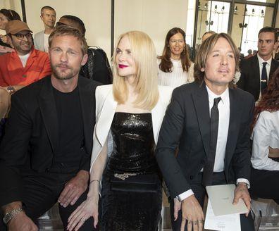 Alexander Skarsgård, Nicole Kidman and Keith Urban at the Fall / Winter Haute Couture Fashion Show