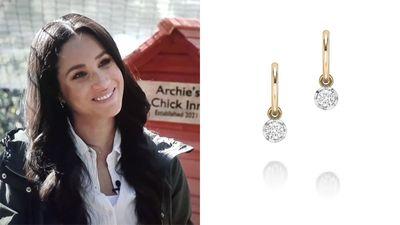 Meghan's $5300 earrings inside Archie's chicken coop