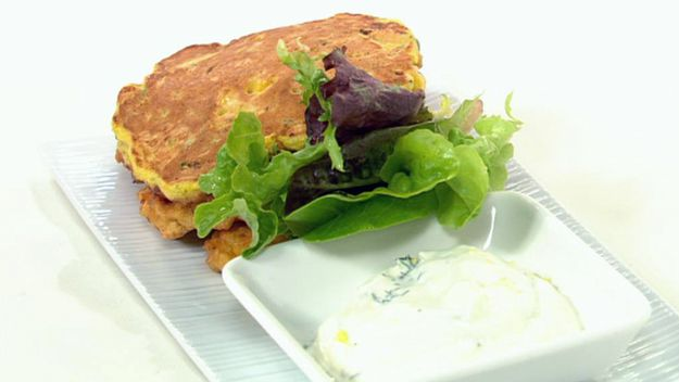 Salmon fritters
