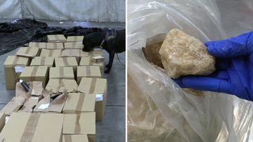 190528 Sydney drug bust $140 million MDMA cocaine border force shampoo delivery crime news Australia