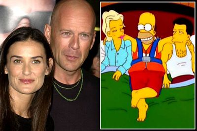 Alec Baldwin and Kim Basinger play Homer's new celebrity besties in season 10's 'When You Dish Upon a Star'. They later split up, as did all the other celeb couples offered the role — Bruce and Demi, and Tom Cruise and Nicole Kidman. <i>Simpsons</i> curse?