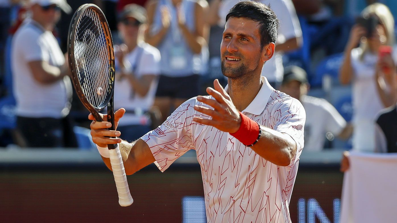 Novak Djokovic of Serbia
