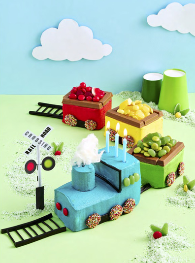 Choo Choo 'train' cake as featured in the Allen's Party Cake Book