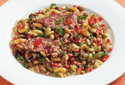 Lamb with quinoa and nuts