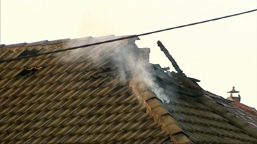 The fire is believed to have started in the rear of the house. Picture: 9NEWS