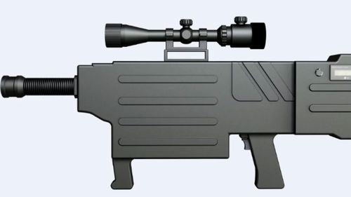 The ZKZM-500 laser weapon weighs about 3kgs - the same as a mass produced AK-47 assault rifle.