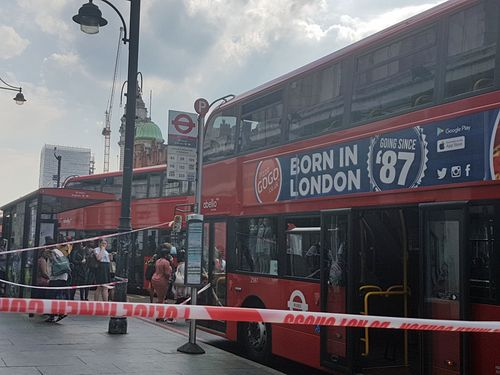 A woman aged in her 20s was attacked with acid on a bus in London. (AAP)