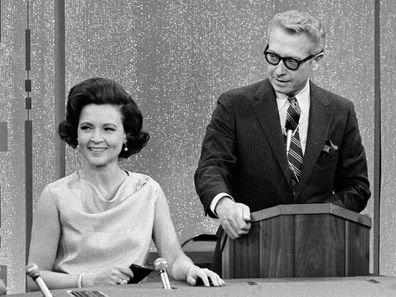 Betty White and Allan Ludden on the gameshow, PASSWORD, 1967.