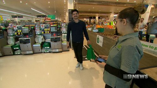 The new system will allow customers to monitor how much they spend in the aisles.
