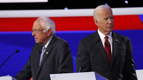 Bernie Sanders and Joe Biden had some tense moments.