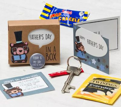 """<a href=""""https://www.hardtofind.com.au/139637_fathers-day-in-a-box"""" target=""""_blank"""">Father's Day in a Box, $18.</a>"""