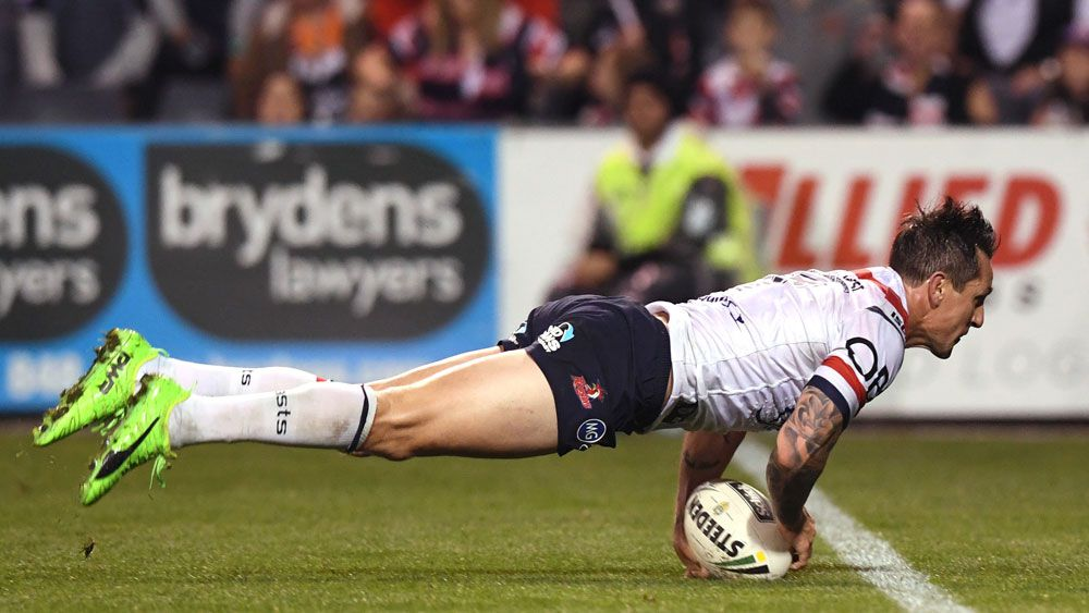 Sydney Roosters halfback Mitchell Pearce preps for State of Origin with Wests Tigers bashing