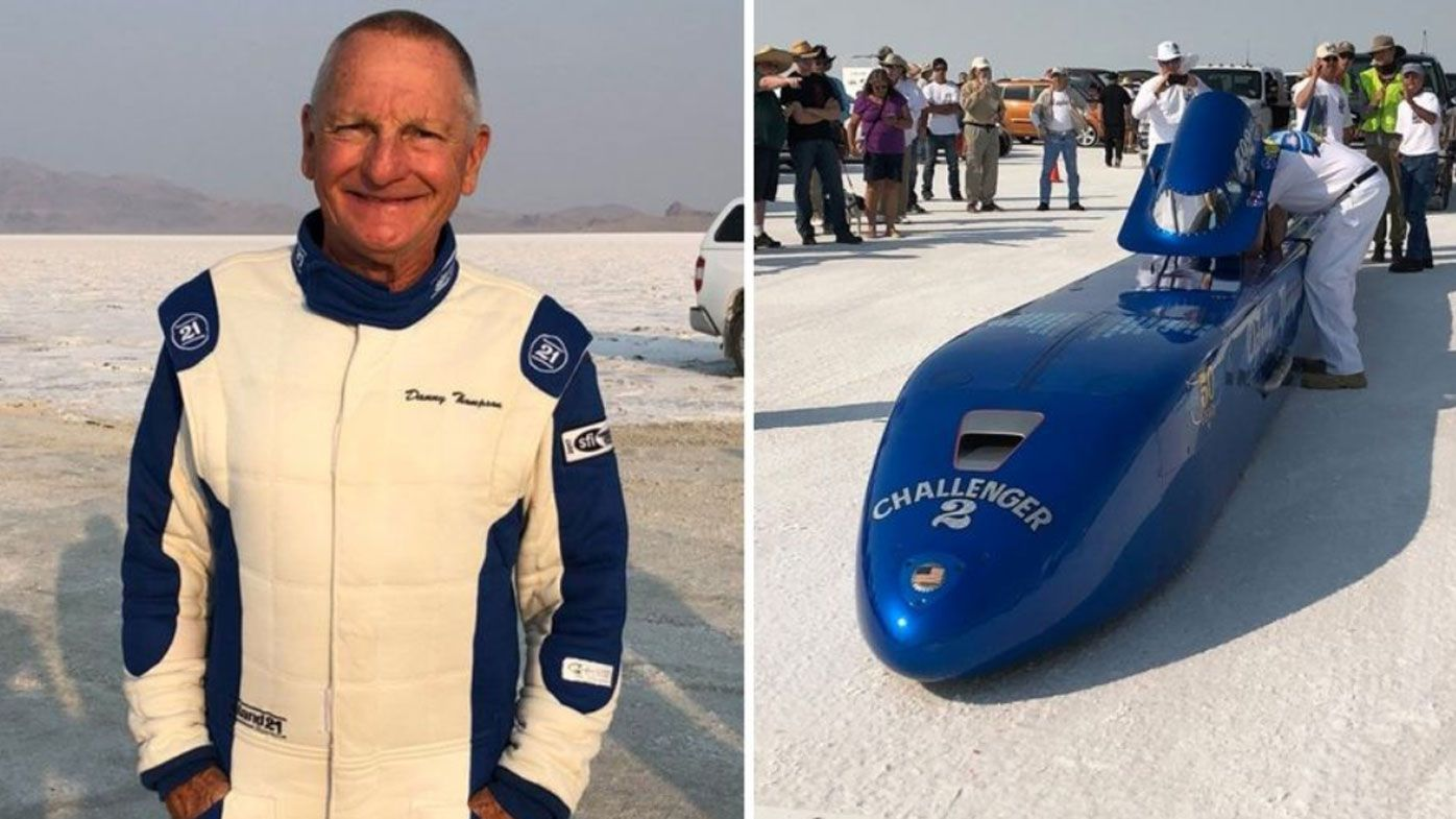 American race car driver Danny Thompson breaks land speed record