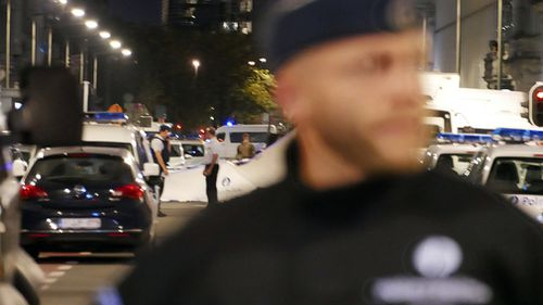 The attack took place close to a busy tourist attraction in the Belgian capital. (AAP)