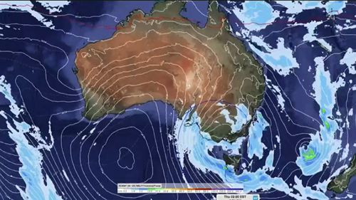 The big chill will hit Sydney on Friday, dropping temperatures by 8 degrees. (WEATHERZONE)