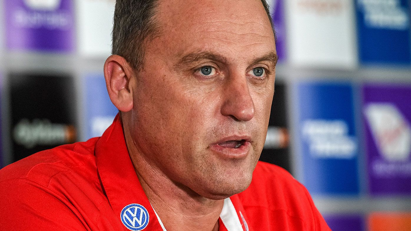 Sydney Swans coach John Longmire lashes 'unusual' Alastair Clarkson meeting with AFL boss Gillon McLachlan