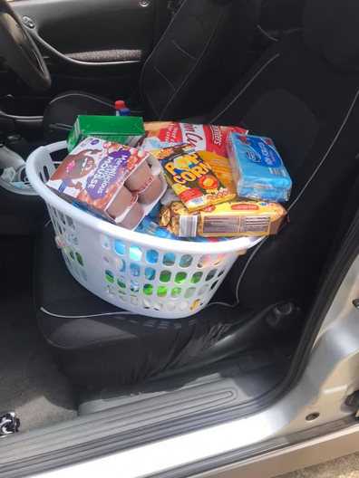 Laundry basket checkout shopping hack