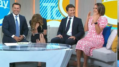 Today hosts reveal first kisses, and well, it was a tad awkward
