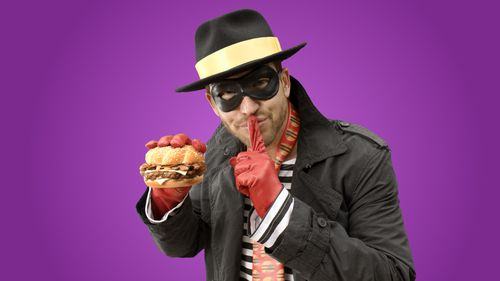 Mr La Rocca said he was being treated like the fictional McDonald's character Hamburglar. (AAP)
