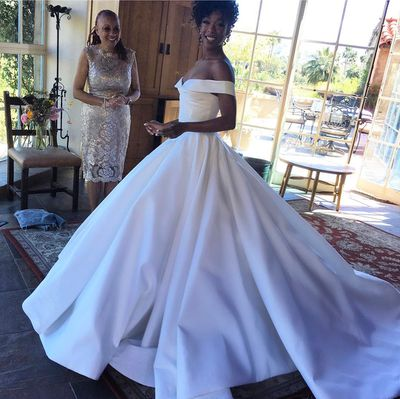 <em>Orange Is The New Black</em> Actress Samira Wiley in&nbsp;Christian Siriano, March 2017