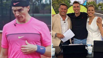 Funny man Elliot Loney impersonates Tennis greats