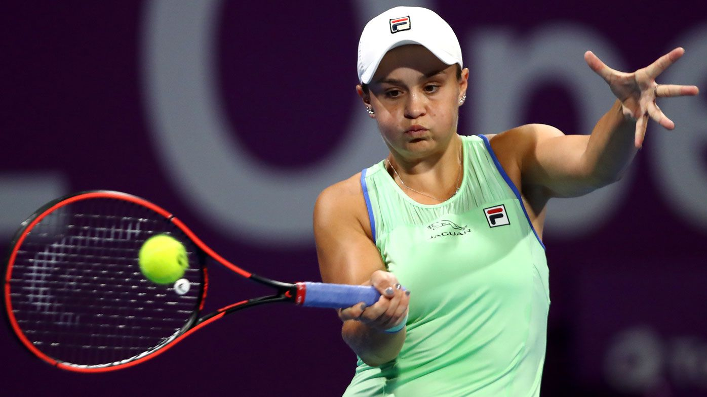 Top seed Ashleigh Barty eases through on Doha debut, beating Laura Siegemund