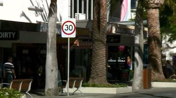 A 30km/h zone in Surfers Paradise. Picture: 9NEWS