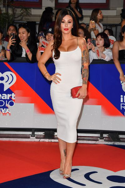 Former <em>Jersey Shore</em> star Jenni 'Jwoww' Farley at the 2018 iHeartRADIO MuchMusic Video Awards in Toronto, Canada