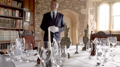 Grant Harrold, The Royal Butler shows how to lay a dinner table 2