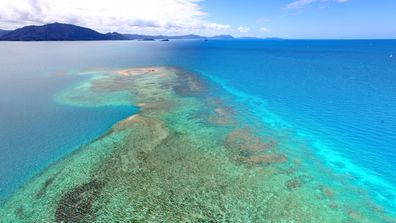 The beautiful Pacific waters surrounding New Caledonia.