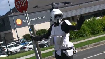 Why this dad dresses up as a Stormtrooper every morning