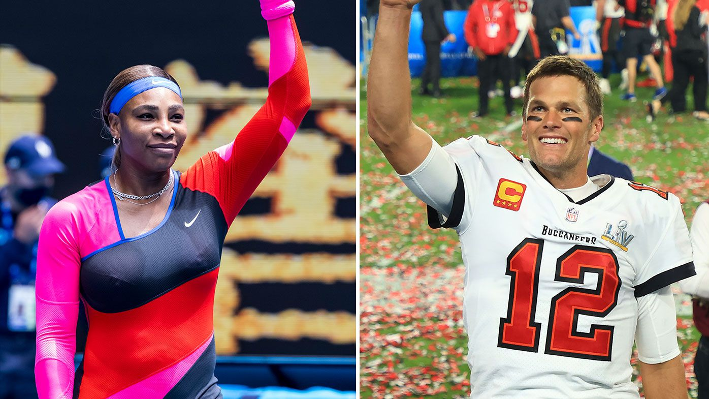 Serena Williams wins easily, pays tribute to Tom Brady's Super Bowl win