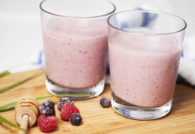 Mixed berry breeze smoothie