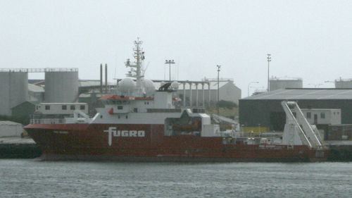 The Fugro Discovery took part in the search for MH370. (AAP)